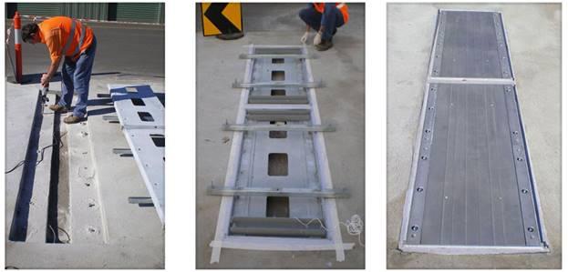 Installation of a weighbridge