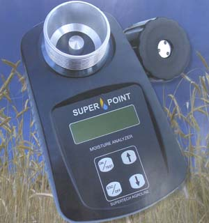 SuperPoint Moister Tester - The Portable grain Moister Tester you can rely on.